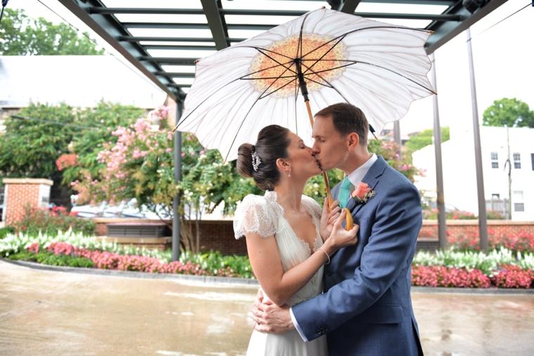 Eclectic Coral & Aqua Industrial Chic Wedding via TheELD.com