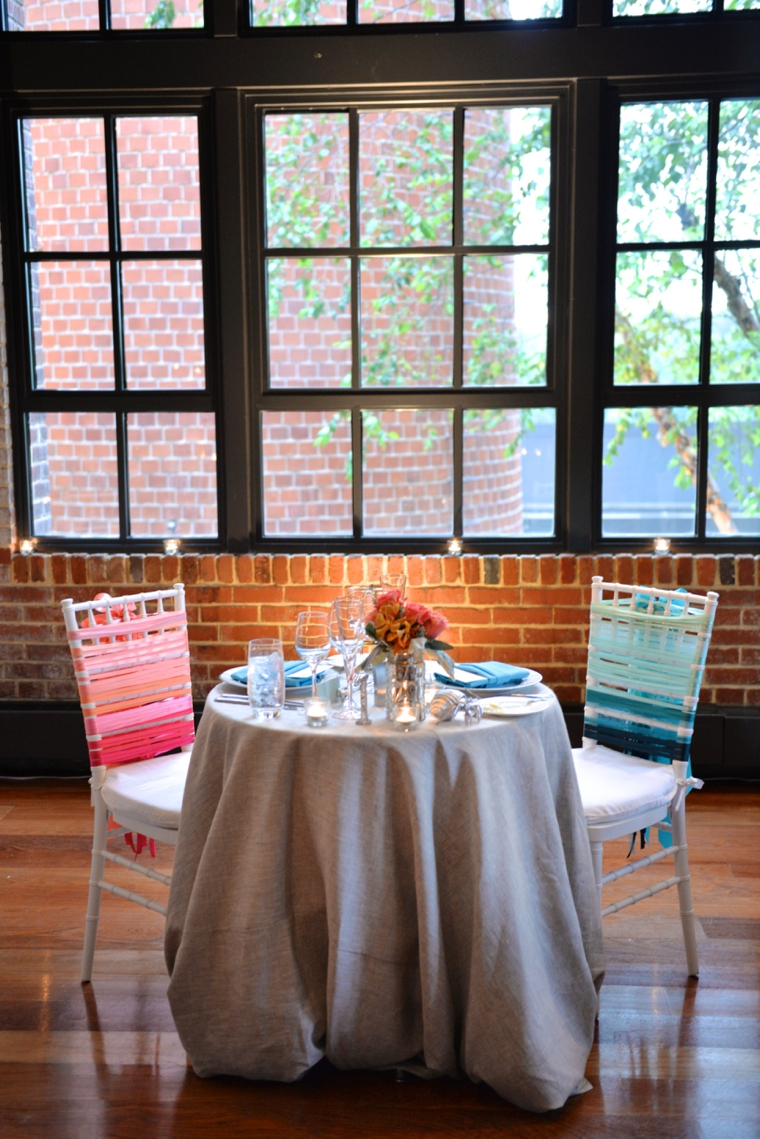 Eclectic Coral & Aqua Industrial Chic Wedding via TheELD.com