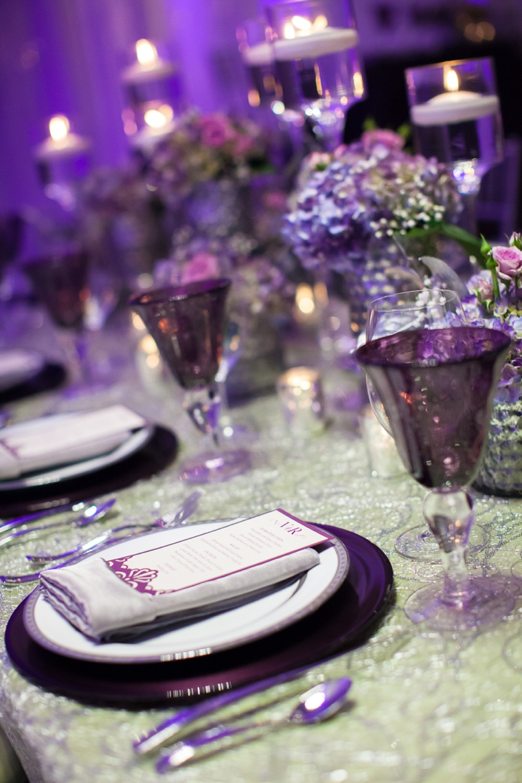 Glamorous Purple Wedding Inspiration via TheELD.com