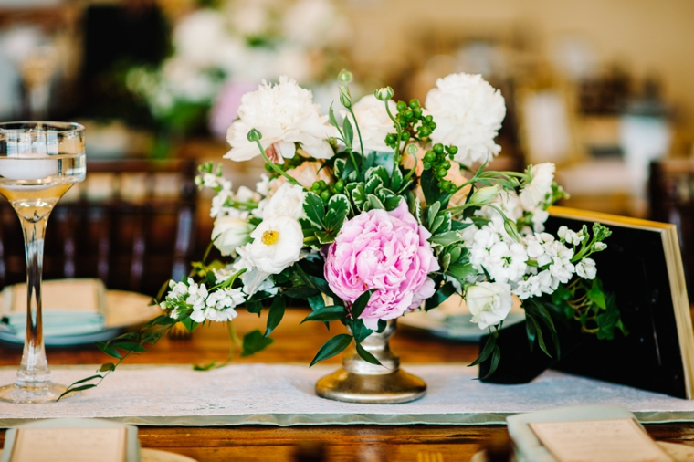 An Eclectic Mint and Pink Garden Wedding via TheELD.com