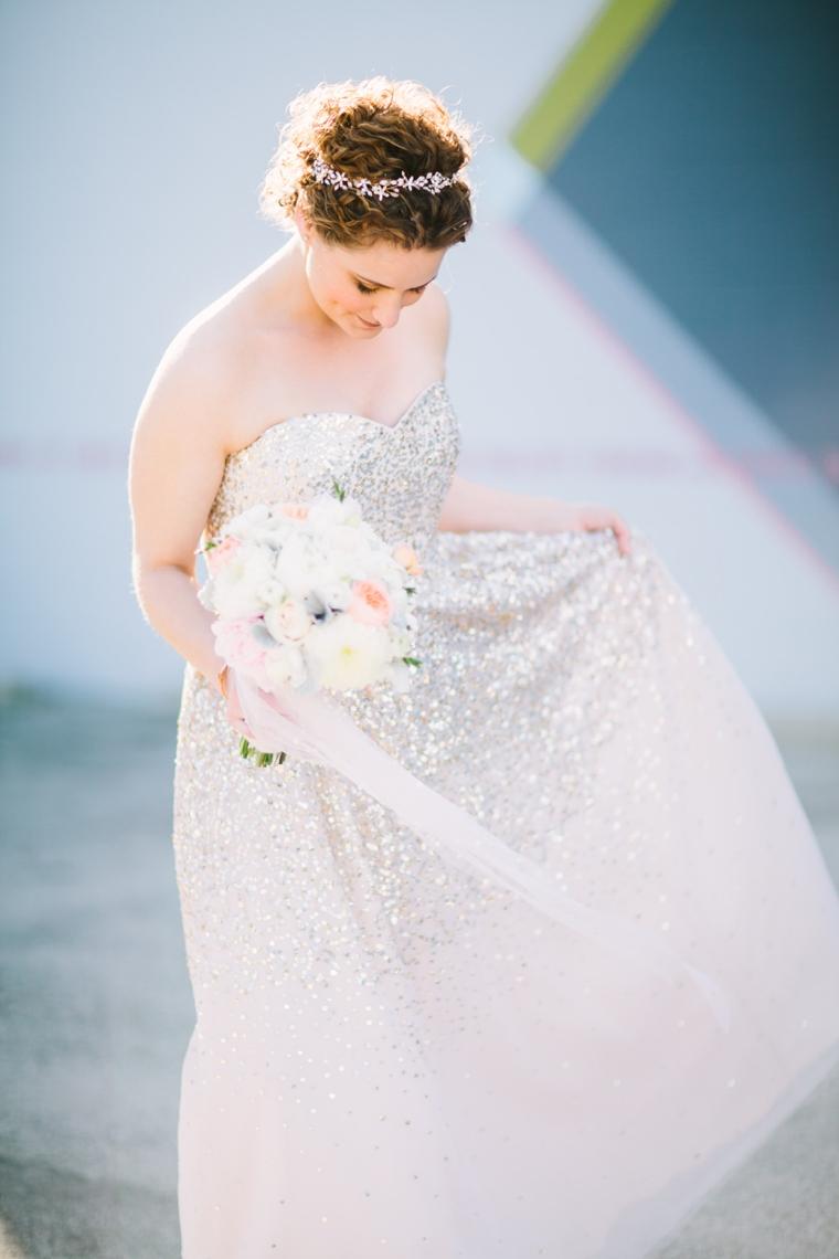 A Sparkly and Eclectic Smog Shoppe Wedding via TheELD.com
