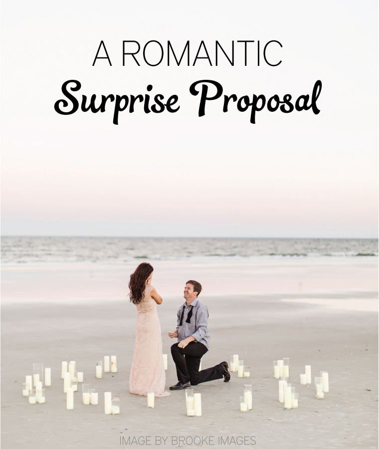A Romantic Surprise Proposal Idea  via TheELD.com