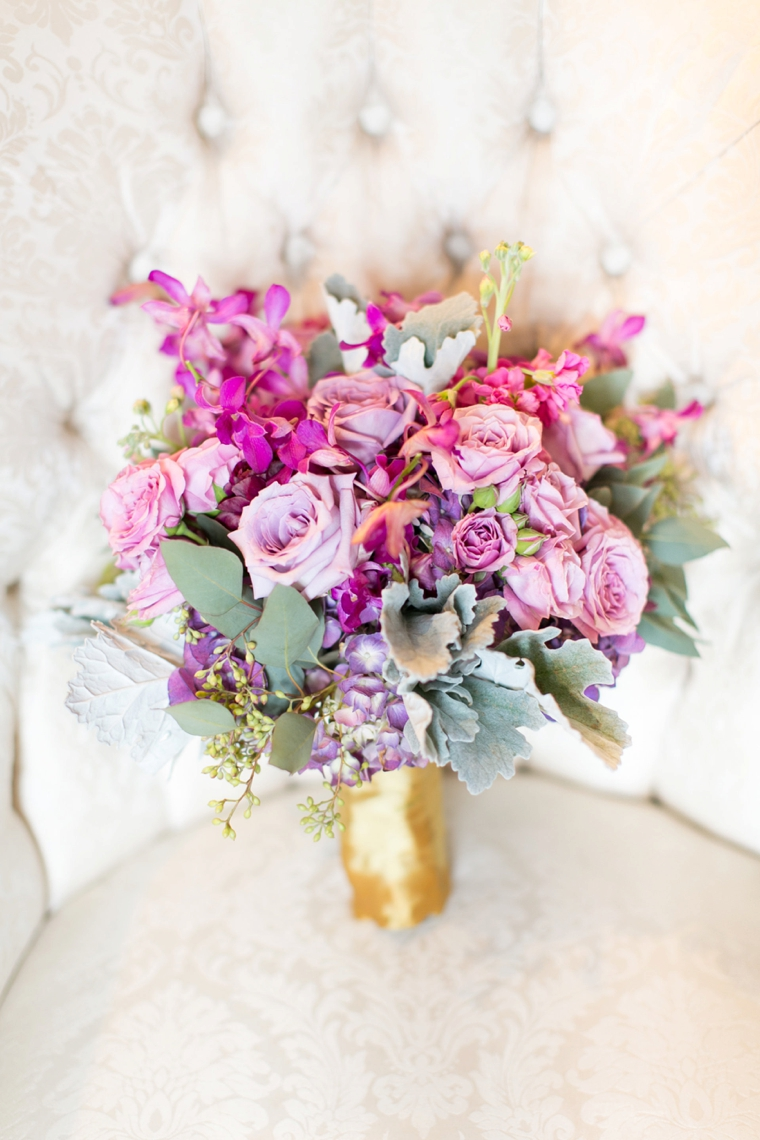 A Chic Plum & Champagne Wedding via TheELD.com