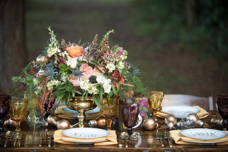 Eclectic Yellow, Plum & Marsala Wedding Ideas via TheELD.com