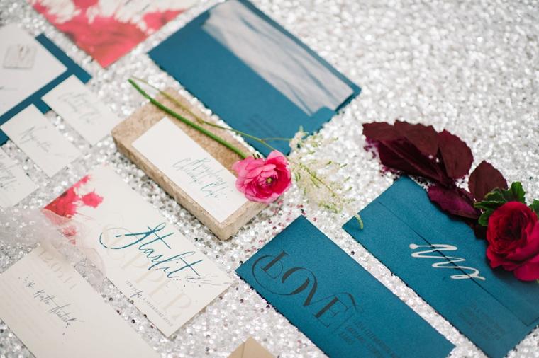 Modern & Romantic Marsala Wedding Ideas via TheELD.com