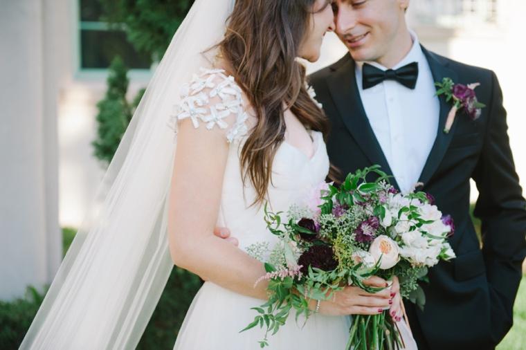A Romantic Burgundy and Blush Wedding via TheELD.com