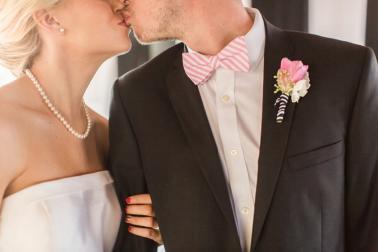 Chic Pink & Black Kate Spade Wedding Ideas via TheELD.com