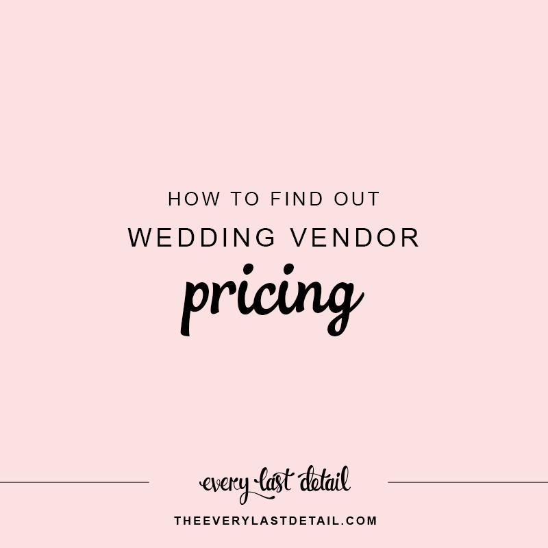 How To Find Out Wedding Vendor Pricing via TheELD.com