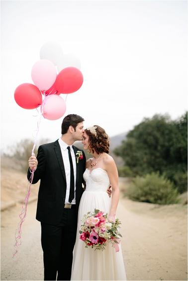 Pink and Red Valentines Day Wedding Ideas via TheELD.com