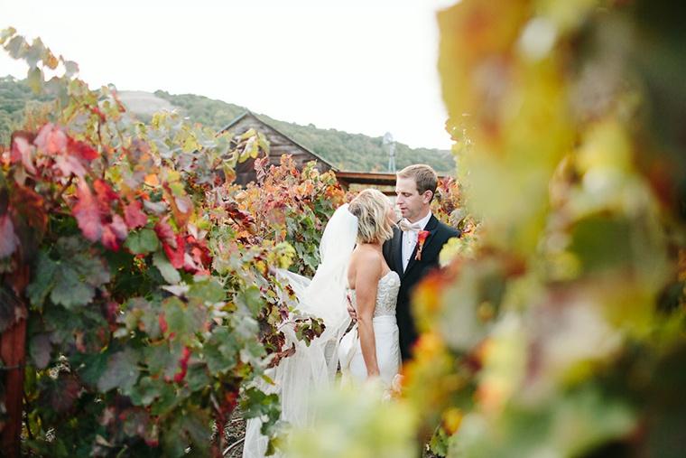 A Marsala & Gold Backyard Fall Wedding via TheELD.com