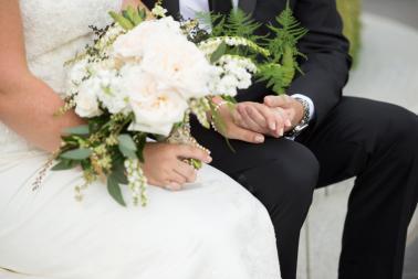 A Timeless, Elegant Black and White Wedding via TheELD.com
