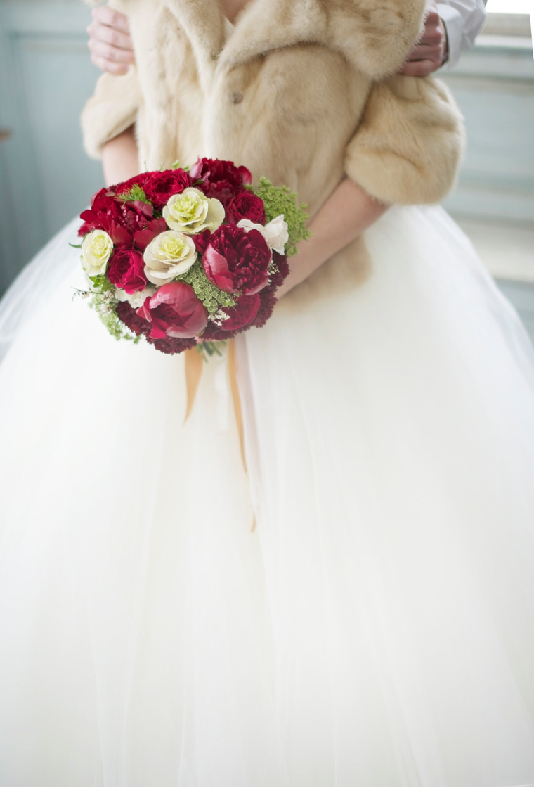 Bold Elegant Red and Green Wedding Ideas via TheELD.com