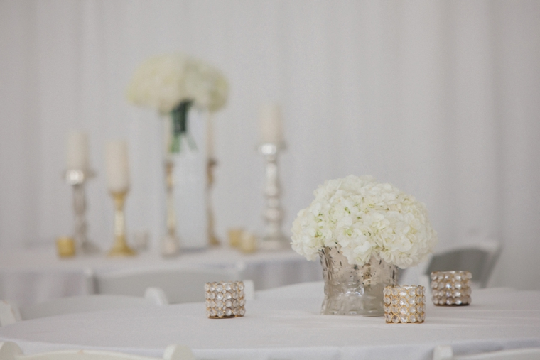 A Glamorous White and Gold Wedding via TheELD.com