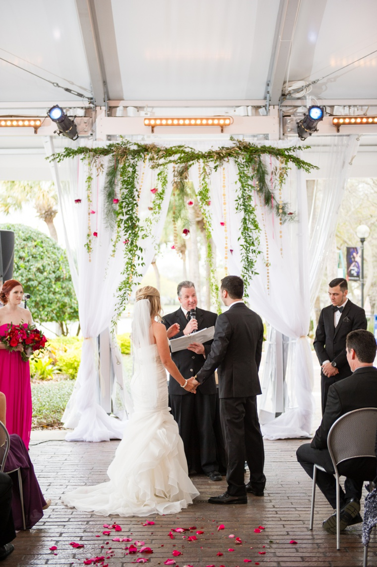 A Chic Black & Fuchsia Wedding via TheELD.com