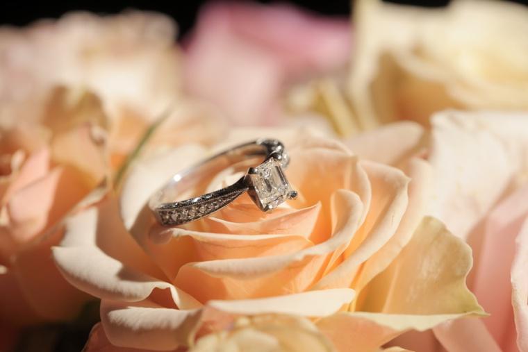 Rustic Elegant Pink and Gold Wedding via TheELD.com
