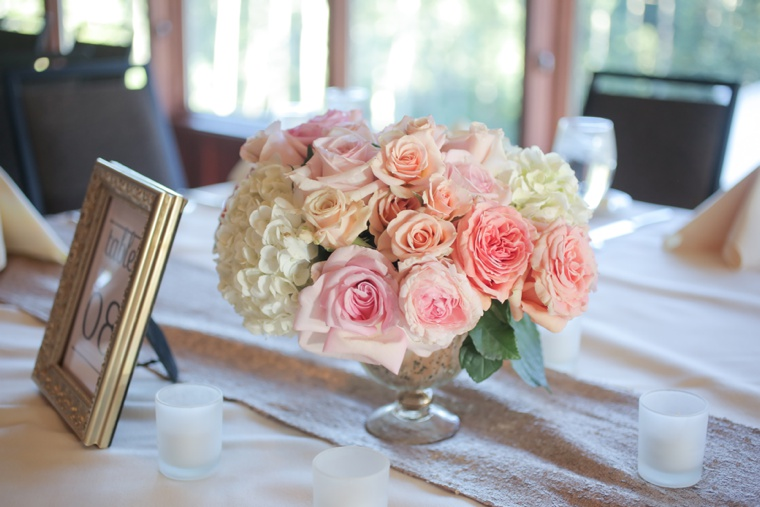 Rustic Elegant Pink and Gold Wedding via TheELD.com