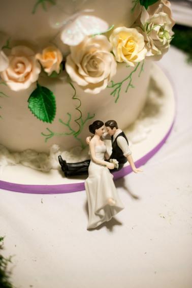 Elegant Garden Lavender and White Wedding via TheELD.com
