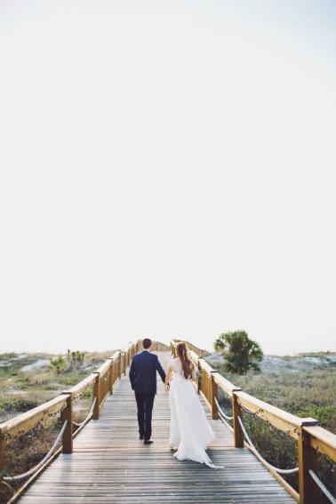 Romantic & Natural Beach Wedding Ideas via TheELD.com