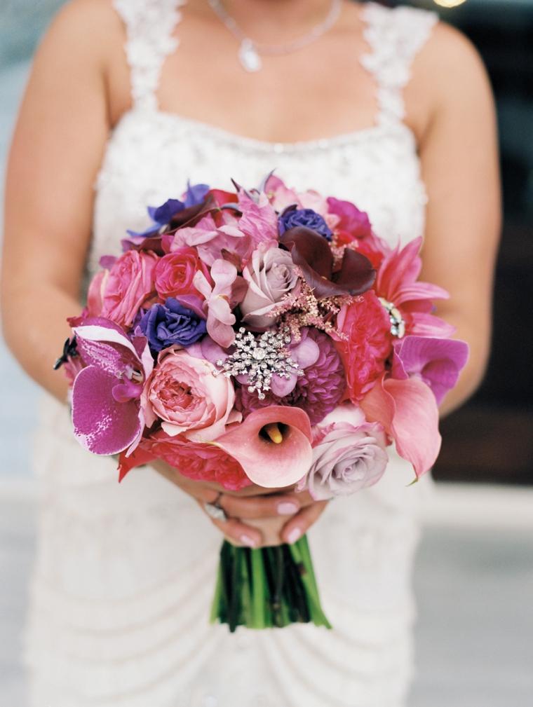 A Pink & Plum Modern Vintage Wedding via TheELD.com