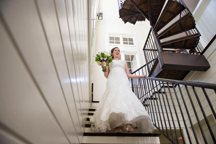An Elegant Navy & White Carillon Beach Wedding via TheELD.com