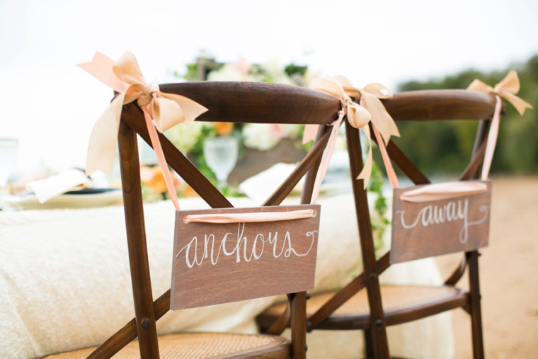 Peach & Blue Destination Wedding Ideas via TheELD.com