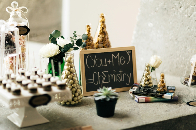 Eclectic Chemistry Inspired Wedding Ideas via TheELD.com