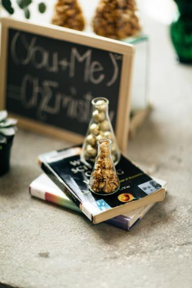 Eclectic Chemistry Inspired Wedding Ideas via TheELD.com