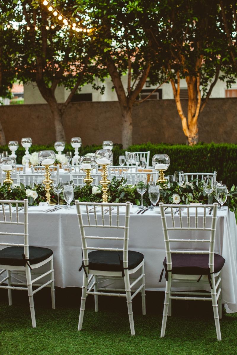 An Elegant Chic Gold and White Wedding via TheELD.com
