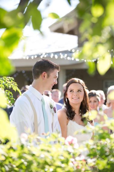 An Aqua and Lavender Wedding via TheELD.com