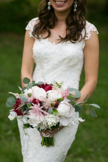 Eclectic Blush & Red New York Wedding via TheELD.com