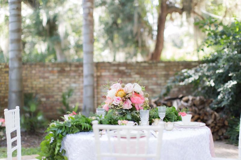 Elegant Pink Garden Wedding Inspiration via TheELD.com