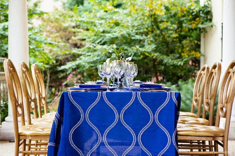 Blue & Gold Celestial Inspired Wedding Ideas via TheELD.com