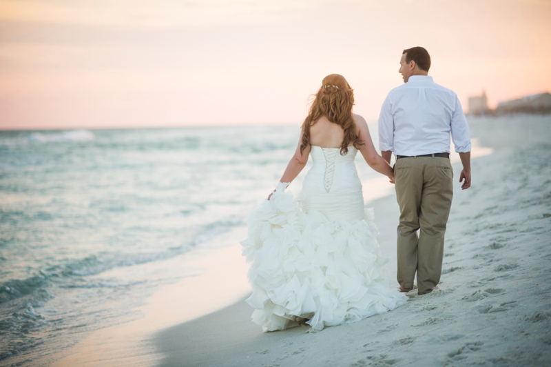 Coral and Aqua Beach Wedding via TheELD.com