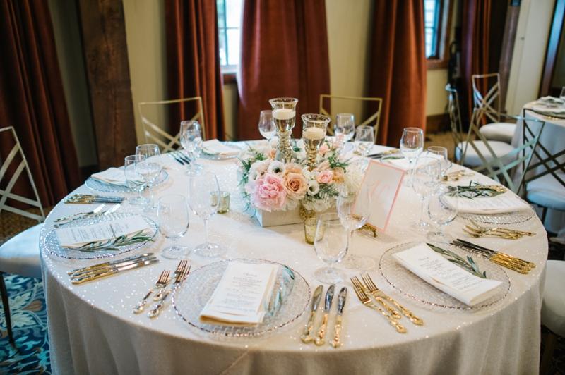 Elegant Blush and Champagne Wedding via TheELD.com