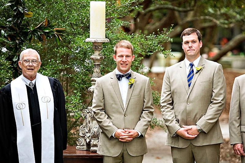 Navy and Green Destination Wedding via TheELD.com
