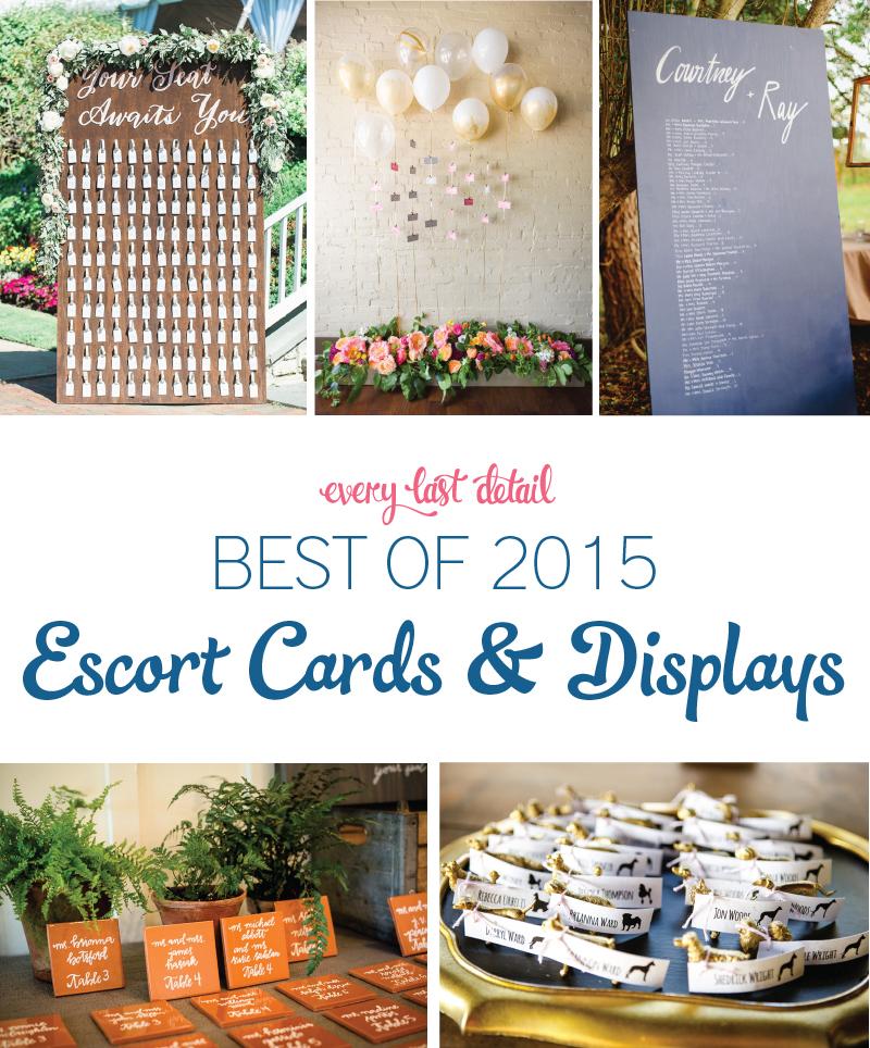 The Best Wedding Escort Cards & Displays of 2015 via TheELD.com