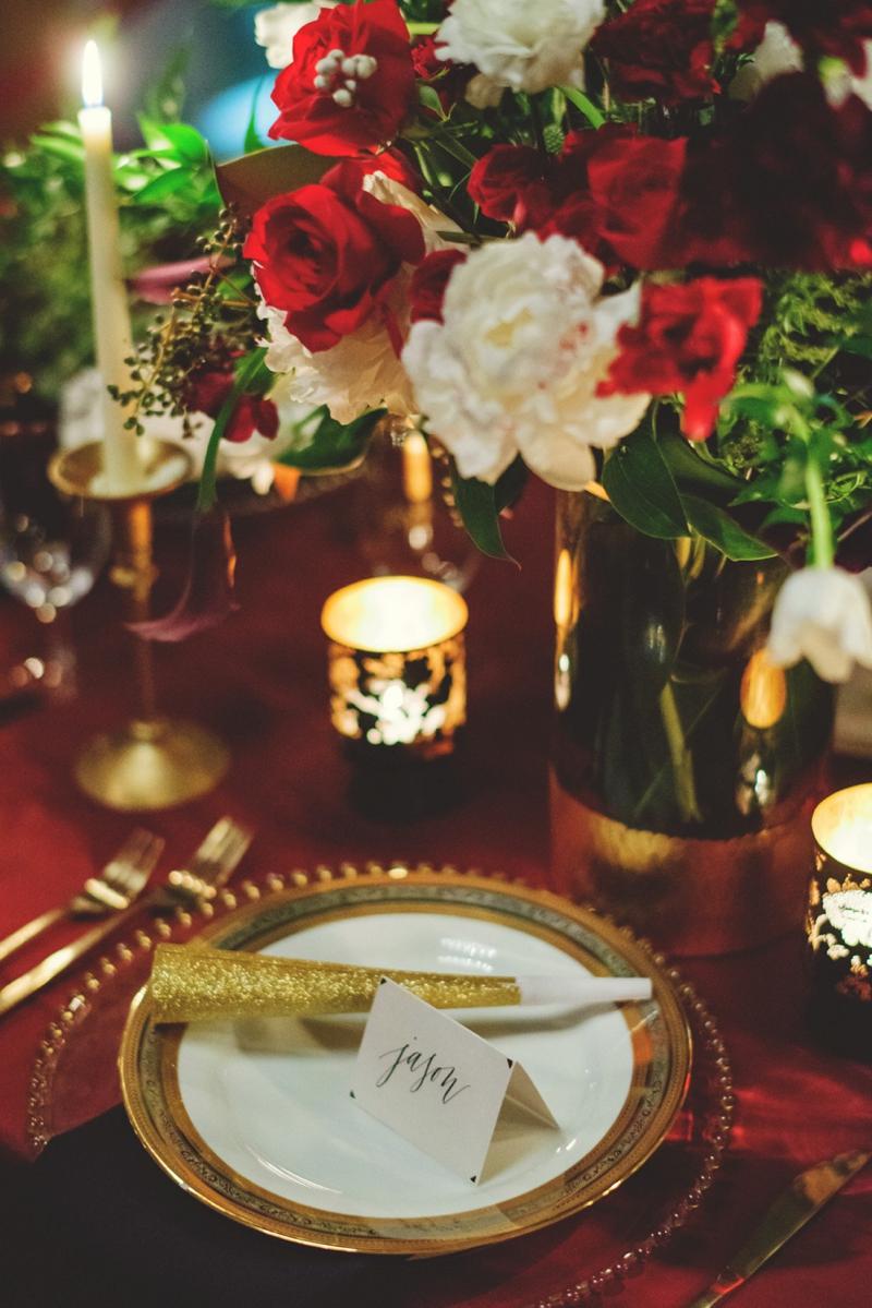 Black & Gold New Years Eve Wedding Ideas via TheELD.com