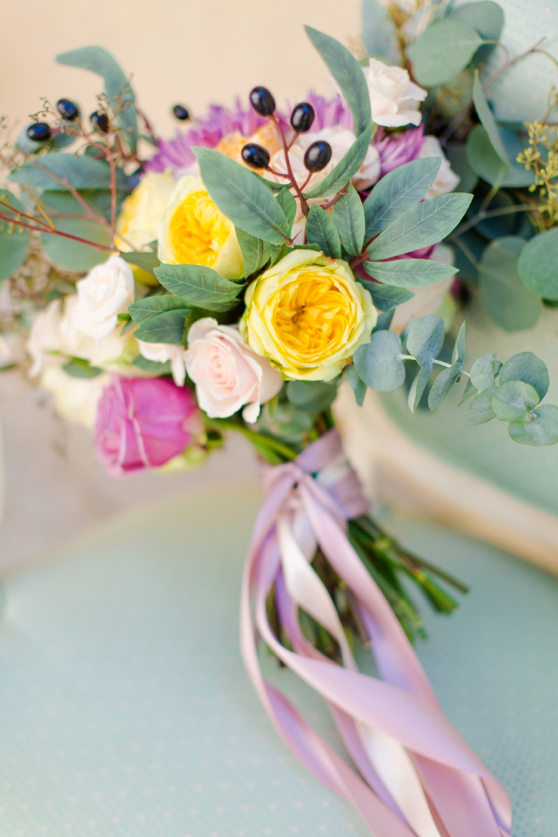 Colorful 60s Inspired Wedding Ideas via TheELD.com