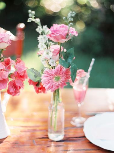 Eclectic Pink & Orange Boho Wedding Ideas via TheELD.com