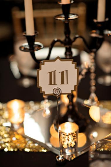 Elegant Black, White & Gold Wedding via TheELD.com