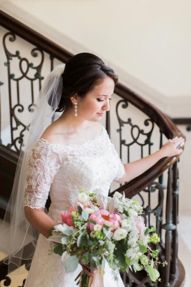 Romantic Navy & Blush Oklahoma Wedding via TheELD.com