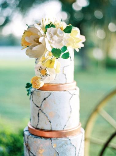 Sophisticated Yellow & Pale Blue Wedding Inspiration via TheELD.com
