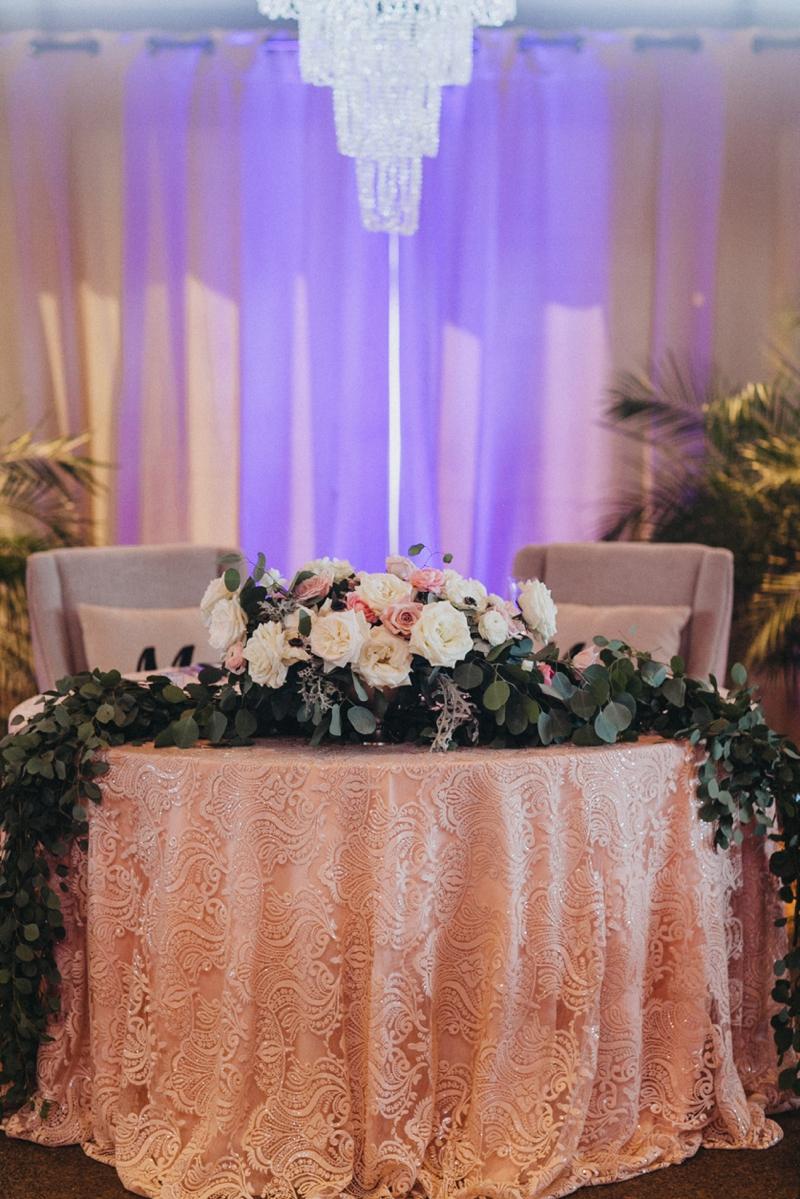 Garden Inspired Pink and Navy Arizona Wedding via TheELD.com
