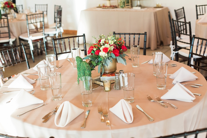 Rustic Elegant Red and Gold Wedding via TheELD.com