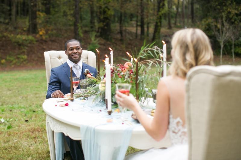 Romantic Red and Blue Wedding Inspiration via TheELD.com