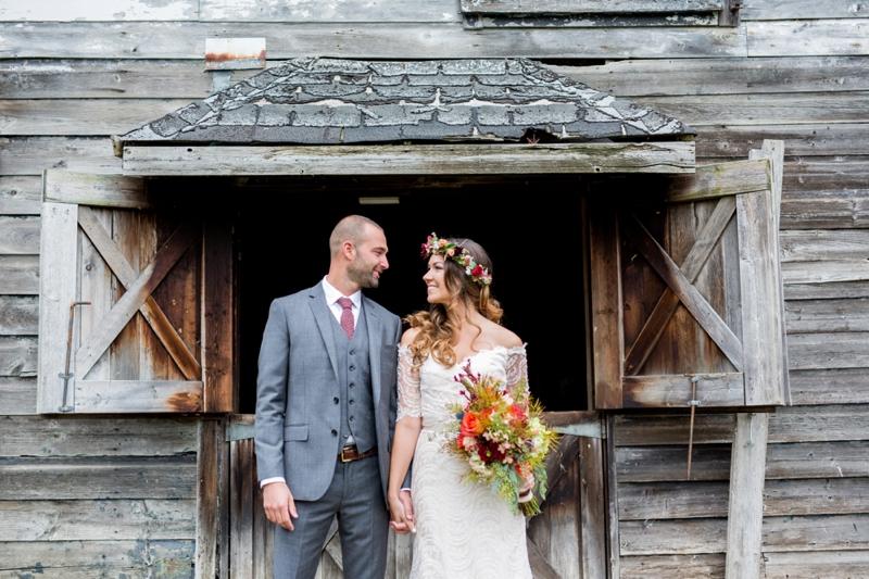 A Rustic Boho Wedding in New York via TheELD.com
