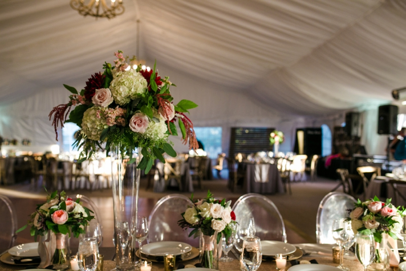 Chic Blush, Red & Gray Washington Wedding via TheELD.com