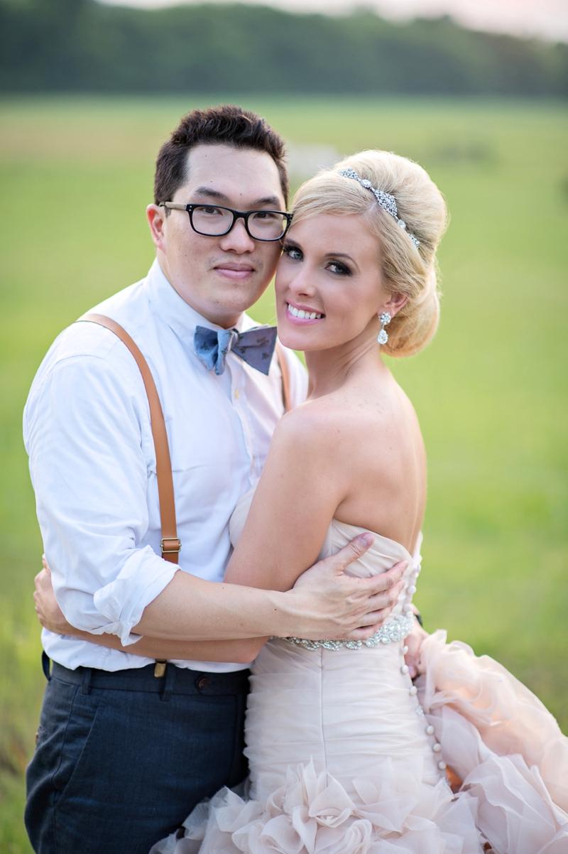 Romantic Blush and Blue Nashville Wedding via TheELD.com