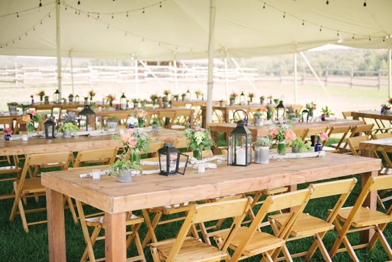 Vintage Rustic Michigan Wedding at Snow Moon Ranch via TheELD.com
