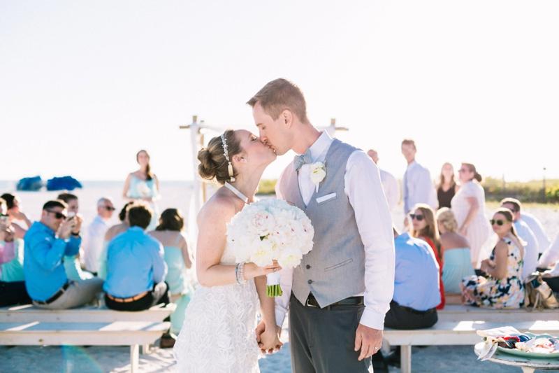 Intimate Turquoise Destination Wedding via TheELD.com